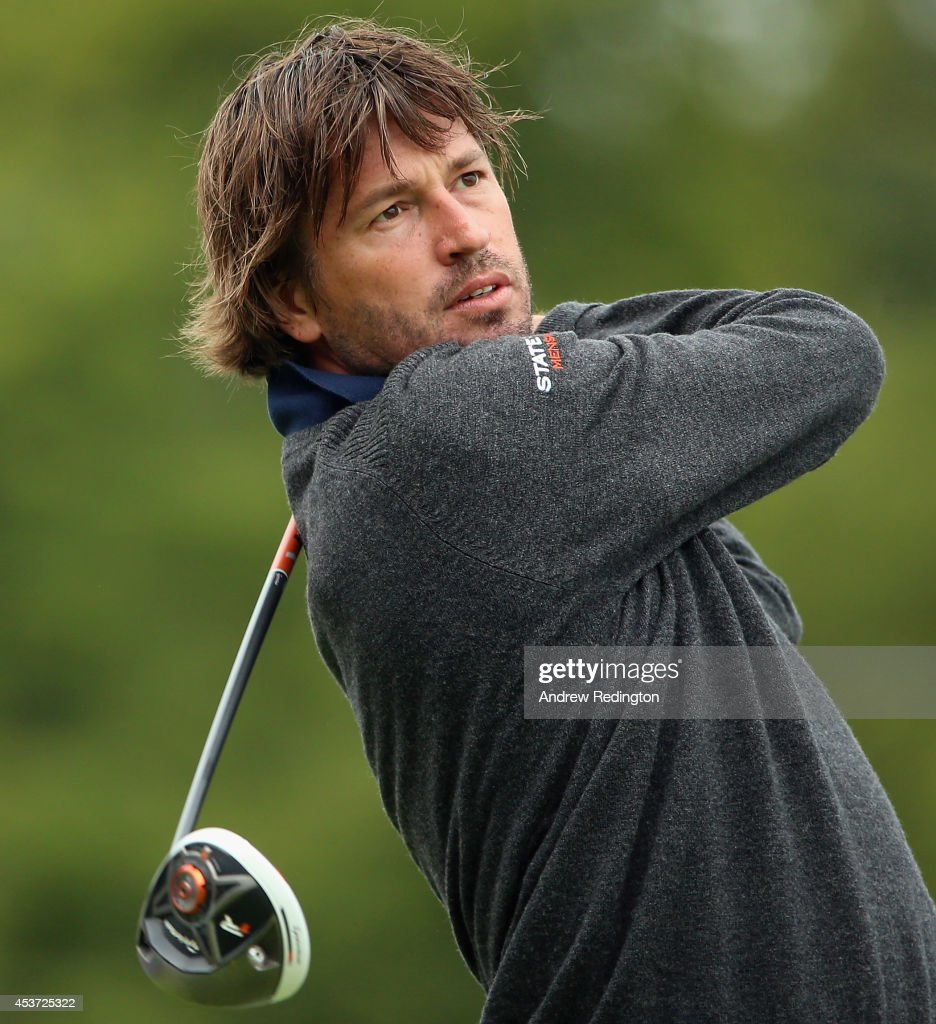 RobertJan Derksen of The Netherlands hits his teeshot on the first hole during the final round of the Made In Denmark at Himmerland Golf Spa Resort...