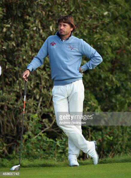 RobertJan Derksen of The Netherlands in action during the second round of the Made In Denmark at Himmerland Golf Spa Resort on August 15 2014 in...