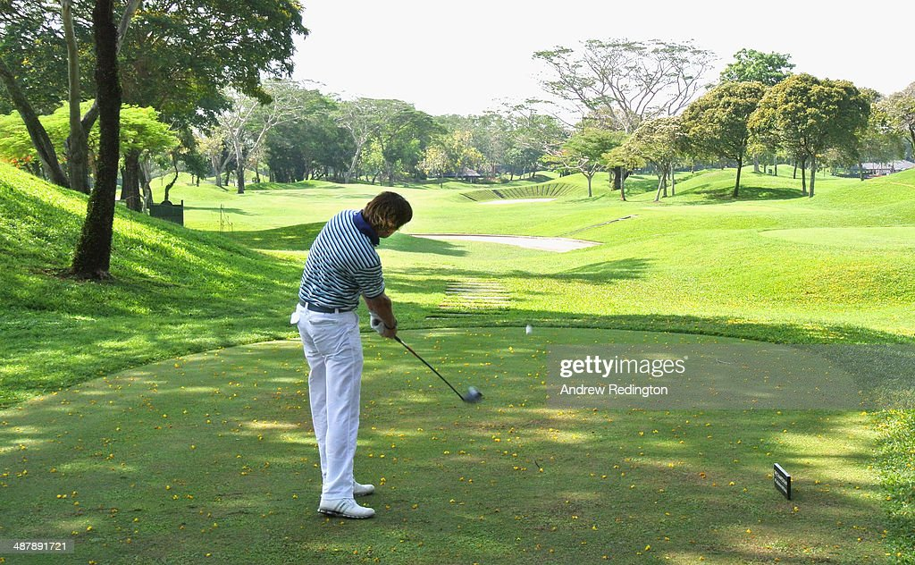 RobertJan Derksen of The Netherlands in action on day three of The Championship at Laguna National held at Laguna National Golf Country Club on May 3...