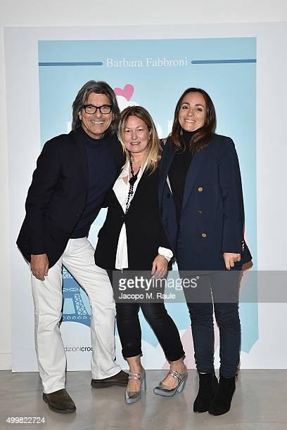 Roberto Alessi Barbara Fabbroni and Camila Raznovich attend the book presentation of 'L'AMORE FORSE' by Barbara Fabbroni on December 3 2015 at the...