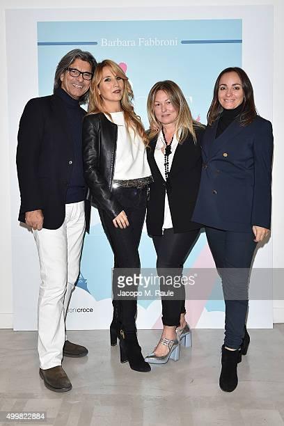 Roberto Alessi Joe Squillo Barbara Fabbroni and Camila Raznovich attend the book presentation of 'L'AMORE FORSE' by Barbara Fabbroni on December 3...