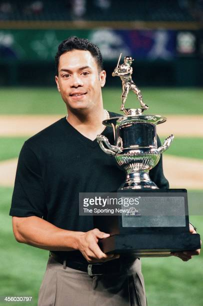 Roberto Alomar of the Baltimore Orioles wins the Most Valuable Player Award following the AllStar Game on July 7 1998 at Coors Field in Denver...