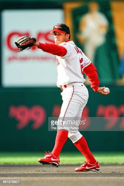 Roberto Alomar of the Cleveland Indidans during Game Two of the American League Division Series against the Boston Red Sox on October 7 1999 at the...