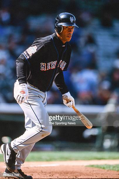 Roberto Alomar of the New York Mets during game against the Chicago Cubs on April 9 2002 at Wrigley Field in Chicago Illinois