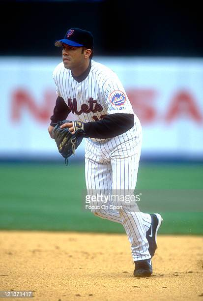 Roberto Alomar of the New York Mets in action during an Major League Baseball game circa 2002 at Shea Stadium in the Queens borough of New York City...