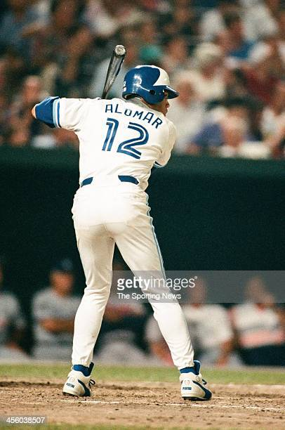 Roberto Alomar of the Toronto Blue Jays during the 1993 AllStar Game on July 13 1993 at Oriole Park at Camden Yards in Baltimore Maryland