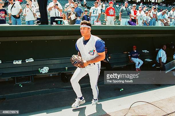 Roberto Alomar of the Toronto Blue Jays during the 1995 All Star Weekend on July 10 1995 at The Ballpark at Arlington in Arlington Texas