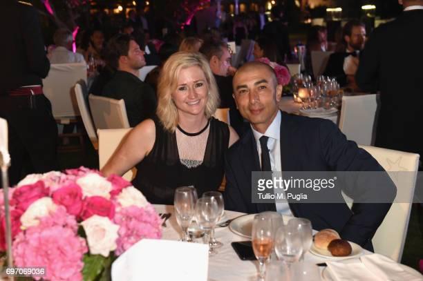 Roberto and Zoe Di Matteo attend The Costa Smeralda Invitational Gala Dinner at Cala di Volpe Hotel Costa Smeralda on June 17 2017 in Olbia Italy