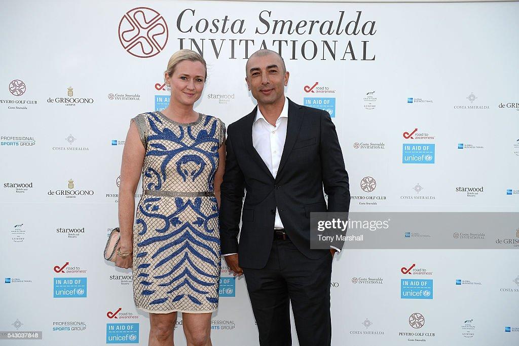 Roberto and Zoe Di Matteo attends the Gala Dinner during The Costa Smeralda Invitational golf tournament at Pevero Golf Club - Costa Smeralda on June 25, 2016 in Olbia, Italy.