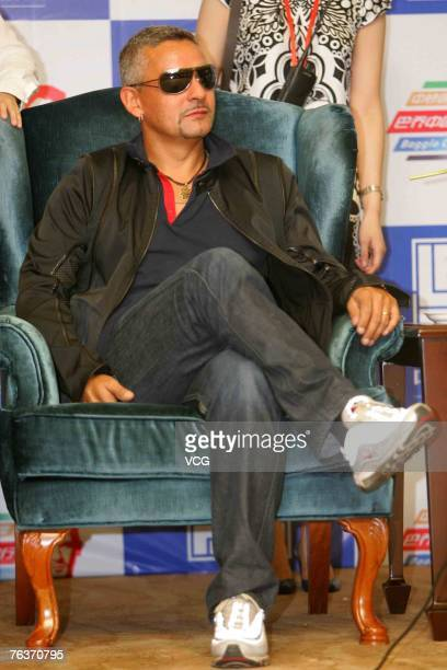 Roberto Baggio former Juventus Inter Milan and Italian international soccer star arrives in Beijing on August 29 2007 in China