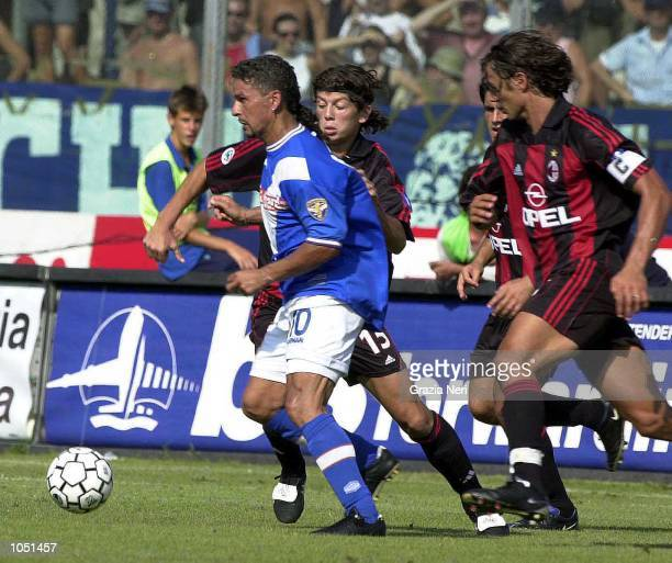 Roberto Baggio of Brescia in action during the Serie A 1st Round League match between Brescia and Milan played at the Mario Rigamonti Stadium Brescia...