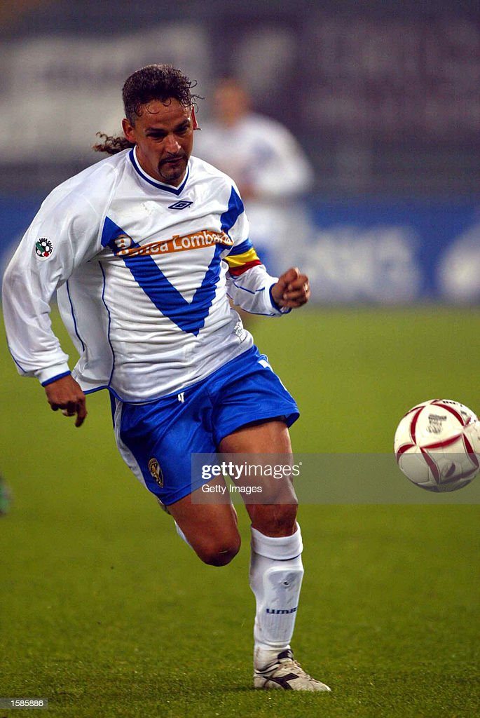 <a gi-track='captionPersonalityLinkClicked' href=/galleries/search?phrase=Roberto+Baggio&family=editorial&specificpeople=216586 ng-click='$event.stopPropagation()'>Roberto Baggio</a> of Brescia in action during the Serie A match between Torino and Brescia, played at the Stadio Delle Alpi, Turin, Italy on November 2, 2002.