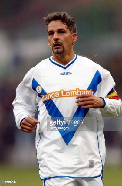 Roberto Baggio of Brescia in action during the Serie A match between Inter Milan and Brescia played at the 'Giuseppe Meazza' San Siro Stadium Milan...