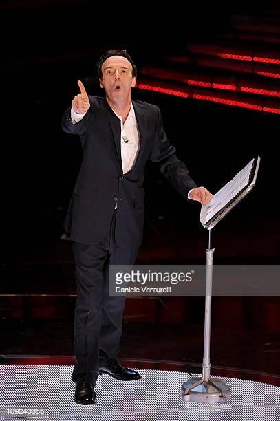 Roberto Benigni attends the 61th Sanremo Song Festival at the Ariston Theatre on February 17 2011 in San Remo Italy