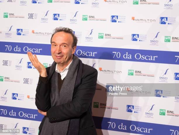 Roberto Benigni attends the photocall for 'Nastri d'Argento Serata 70 da Oscar'