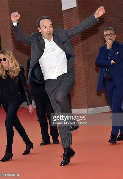 Roberto Benigni walks a red carpet during the 11th Rome Film Festival on October 23 2016 in Rome Italy