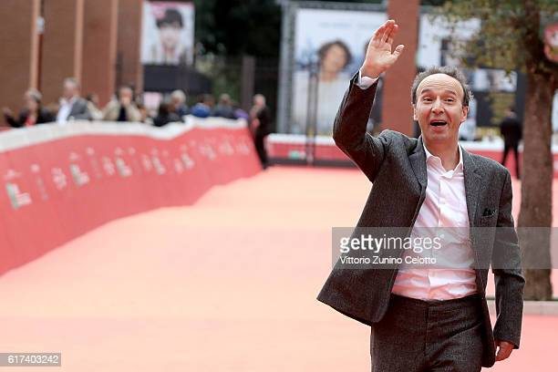 Roberto Benigni walks the red carpet during the 11th Rome Film Festival at Auditorium Parco Della Musica on October 23 2016 in Rome Italy