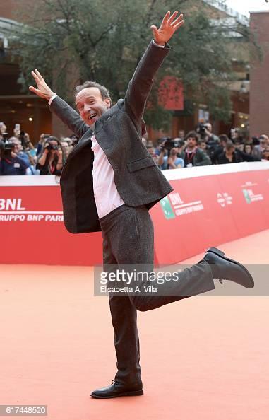 Roberto Benigni walks the red carpet during the 11th Rome Film Festival at Auditorium Parco Della Musica on October 23 2016 in Rome Italy
