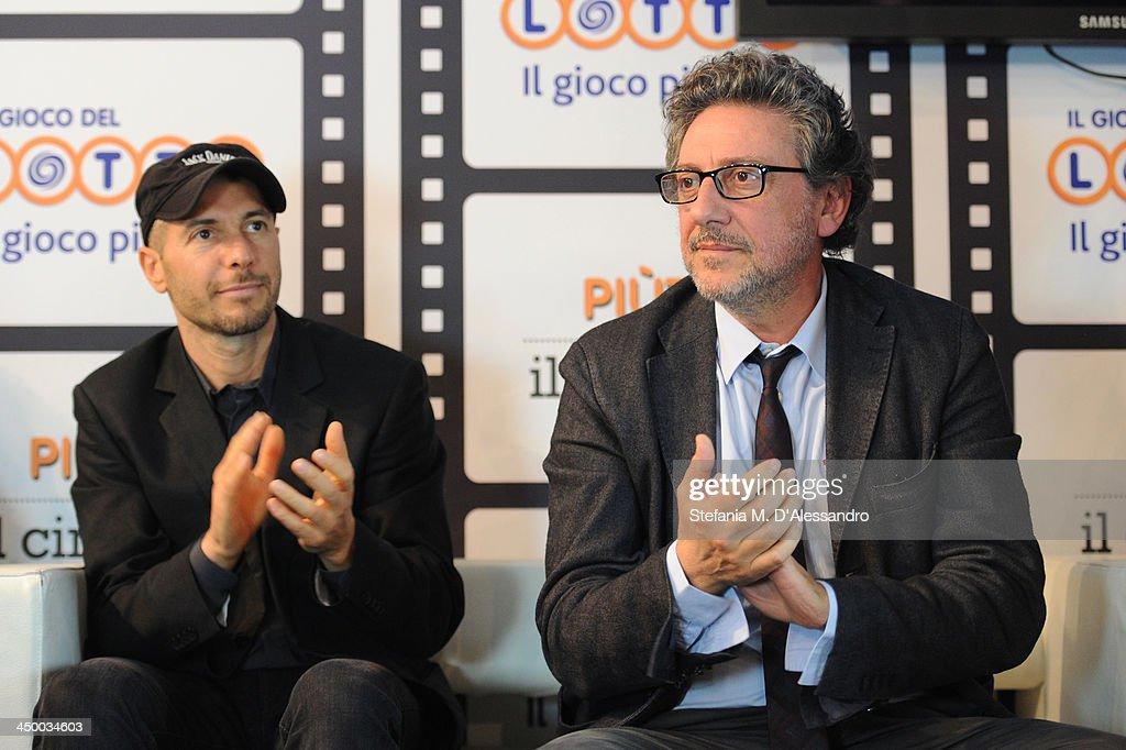 Roberto Bigherati and Sergio Castellitto (R) attend the Casting Awards Ceremony during the 8th Rome Film Festival at the Auditorium Parco Della Musica on November 16, 2013 in Rome, Italy.