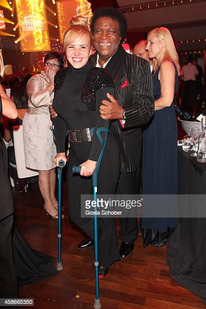 Roberto Blanco and his wife Luzandra during the 33 Deutscher Sportpresseball German Sports Media Ball 2014 at Alte Oper on November 08 2014 in...