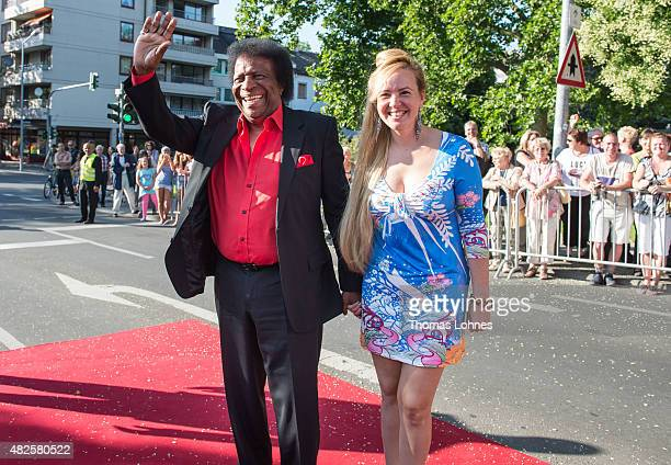Roberto Blanco and his wife Luzandra during the opening night of the Nibelungen festival on July 31 2015 in Worms Germany