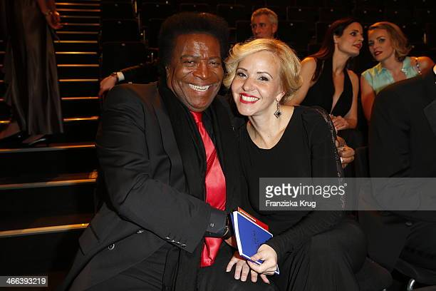 Roberto Blanco and Luzandra Stra§burg attend the Goldene Kamera 2014 at Tempelhof Airport on February 01 2014 in Berlin Germany