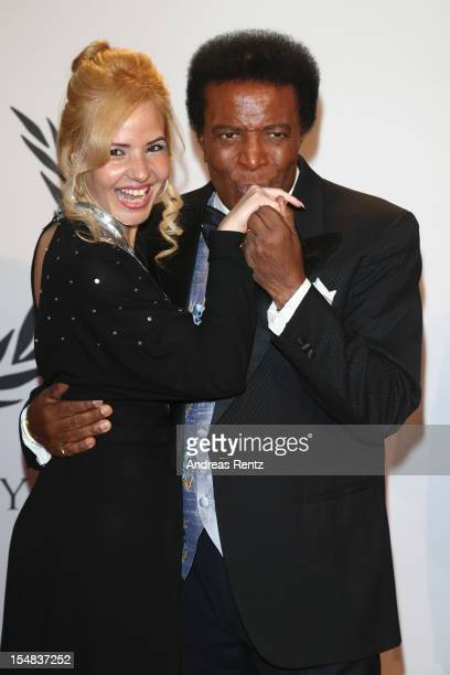 Roberto Blanco and Luzandra Strassburg attend the 21st UNESCO Charity Gala 2012 on October 27 2012 in Dusseldorf Germany