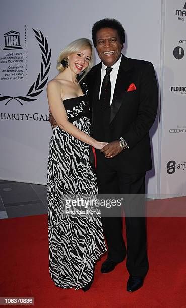 Roberto Blanco and Luzandra Strassburg attend the UNESCO CharityGala 2010 at Maritim Hotel on October 30 2010 in Duesseldorf Germany