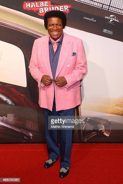 Roberto Blanco attends the German premiere of the film 'Halbe Brueder' at Cinedome Mediapark on March 31 2015 in Cologne Germany