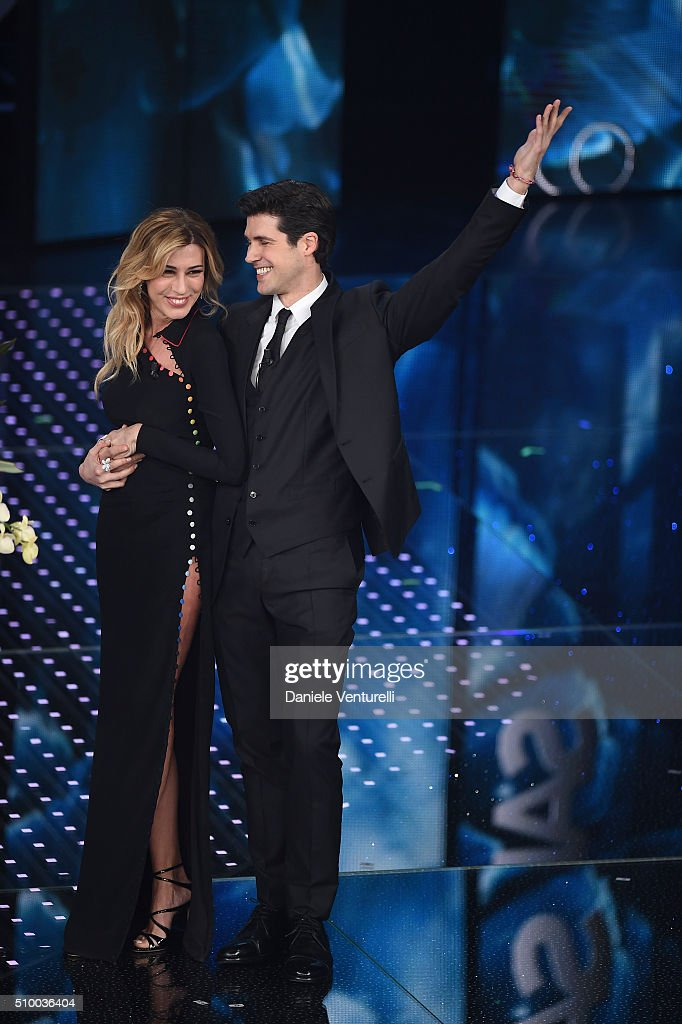 <a gi-track='captionPersonalityLinkClicked' href=/galleries/search?phrase=Roberto+Bolle&family=editorial&specificpeople=612887 ng-click='$event.stopPropagation()'>Roberto Bolle</a> and Virginia Raffaele attend the closing night of 66th Festival di Sanremo 2016 at Teatro Ariston on February 13, 2016 in Sanremo, Italy.