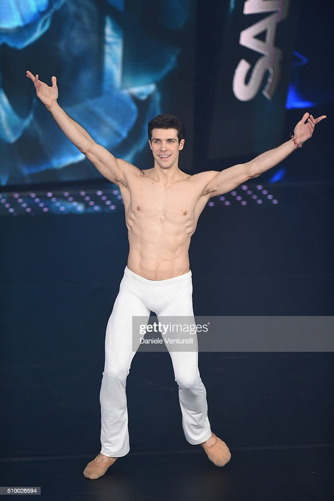 Roberto Bolle attends the closing night of 66th Festival di Sanremo