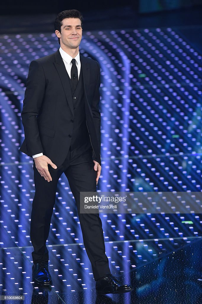 <a gi-track='captionPersonalityLinkClicked' href=/galleries/search?phrase=Roberto+Bolle&family=editorial&specificpeople=612887 ng-click='$event.stopPropagation()'>Roberto Bolle</a> attends the closing night of 66th Festival di Sanremo 2016 at Teatro Ariston on February 13, 2016 in Sanremo, Italy.