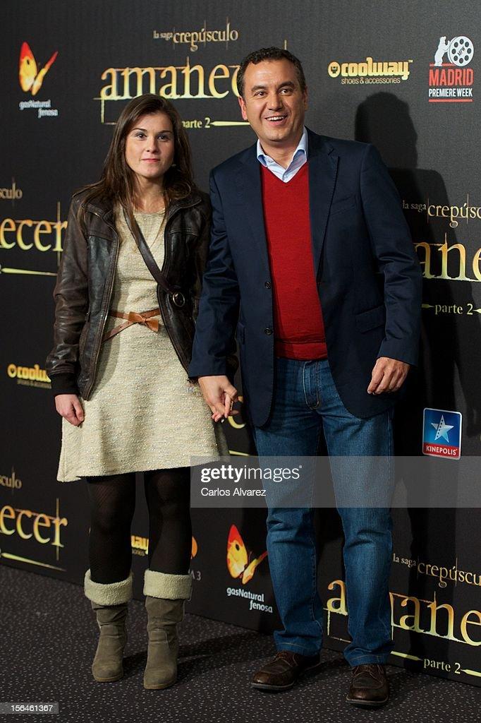 Roberto Brasero (R) attends the 'The Twilight Saga: Breaking Dawn - Part 2' (La Saga Crepusculo: Amanecer Parte 2) premiere at the Kinepolis cinema on November 15, 2012 in Madrid, Spain.