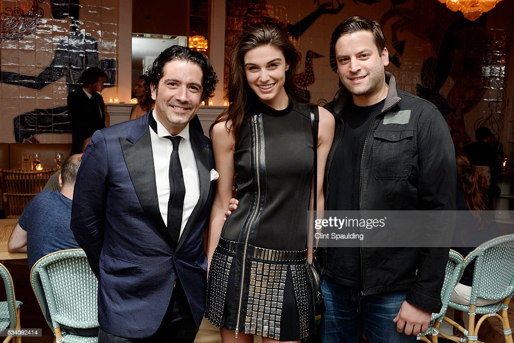 Roberto Buchelli, Mariah Strongin and Jason Ienner attend the Cinema Society and Chopard host the after party for Oscilloscope's 'ma ma' at Cafe Medi on May 24, 2016 in New York City.