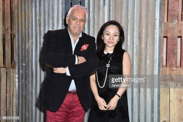 Roberto Camacho and Annie Liu attend the First Annual Medair Gala at Stephan Weiss Studio on March 30 2017 in New York City