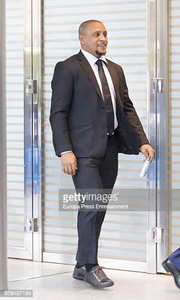 Roberto Carlos attends the UEFA Champions League semifinal secondleg football match between Real Madrid and Manchester Cityon May 04 2016 in Madrid