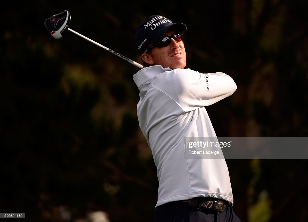 Roberto Castro plays his tee shot on the 14th hole during the second round of the AT&T Pebble Beach National Pro-Am at the Spyglass Hill Golf Course on February 12, 2016 in Pebble Beach, California.