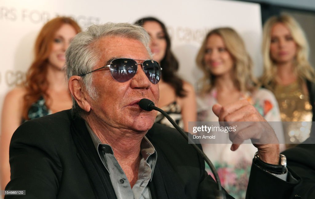 Roberto Cavalli addresses the media during his press conference to announce his range for Target at the Park Hyatt on October 30, 2012 in Sydney, Australia.