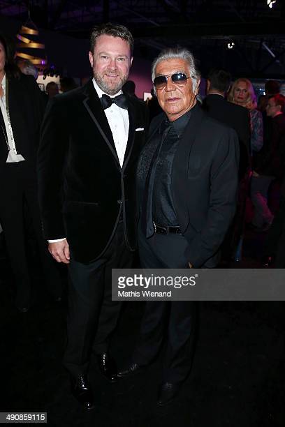 Roberto Cavalli and Christian Krug attend Douglas at Duftstars Awards 2014 the Duftstars Awards 2014 at arena Berlin on May 15 2014 in Berlin Germany