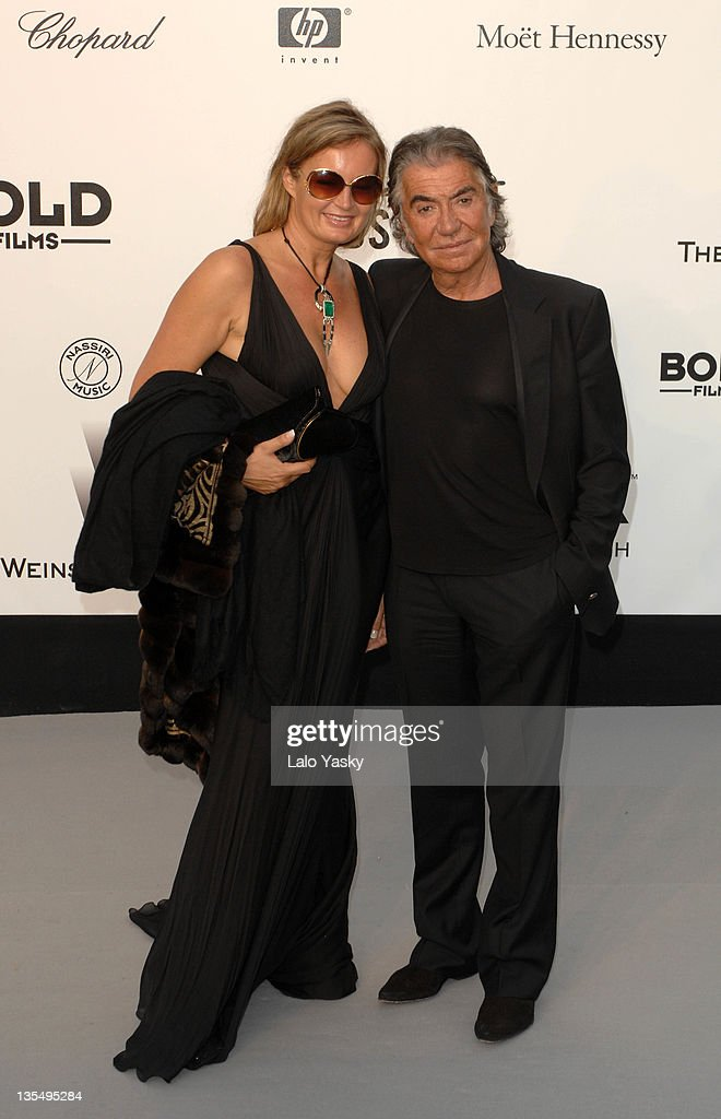 Roberto Cavalli and guest at amfAR's Cinema Against AIDS event, presented by Bold Films, the M•A•C AIDS Fund and The Weinstein Company to benefit amfAR