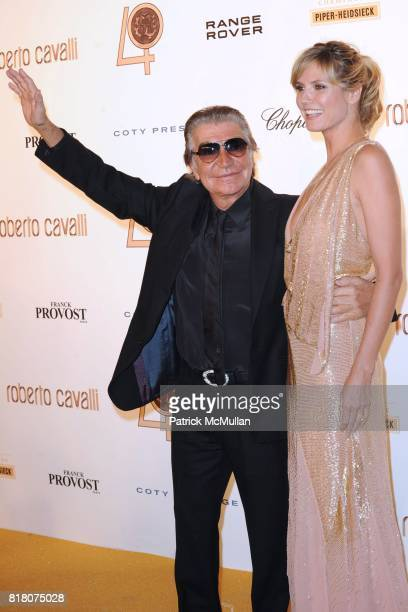 Roberto Cavalli and Heidi Klum attend ROBERTO CAVALLI 40th Anniversary Event CONTACT SIPA PRESS FOR SALES at Les BeauxArts de Paris on September 29...