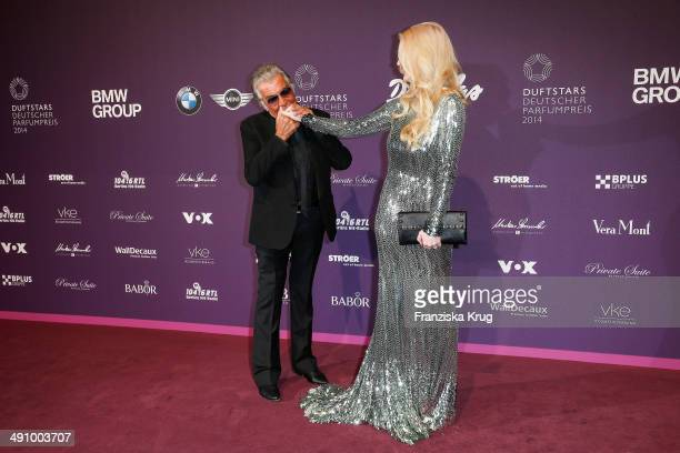 Roberto Cavalli and Mirja Du Mont attend the Babor At Duftstars Awards 2014 at Arena Berlin on May 15 2014 in Berlin Germany