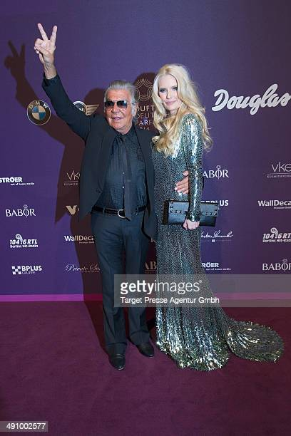 Roberto Cavalli and Mirja Du Mont attend the Duftstars Awards 2014 at arena Berlin on May 15 2014 in Berlin Germany