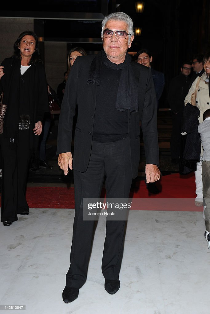 Roberto Cavalli attends 'Opera On ice' - Milan Premiere on April 12, 2012 in Milan, Italy.