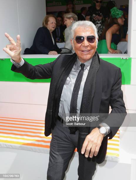 Roberto Cavalli attends the Lavazza marquee on Derby Day at Flemington Racecourse on November 3 2012 in Melbourne Australia