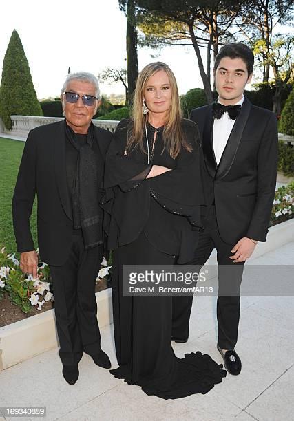 Roberto Cavalli Eva Cavalli and Robin Cavalli attend amfAR's 20th Annual Cinema Against AIDS during The 66th Annual Cannes Film Festival at Hotel du...