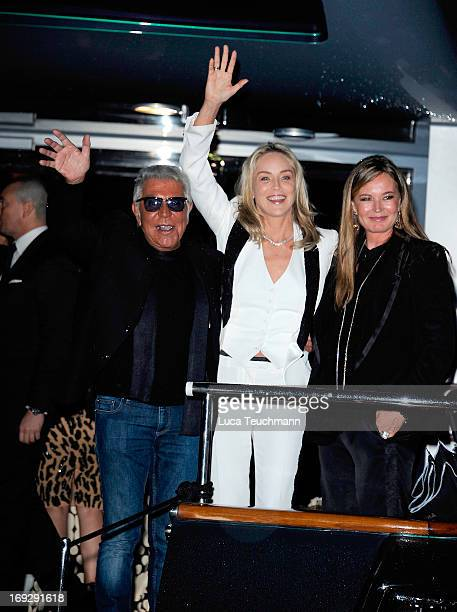 Roberto Cavalli Sharon Stone and Eva Cavalli attend the Roberto Cavalli Yacht Party during The 66th Annual Cannes Film Festival on May 22 2013 in...