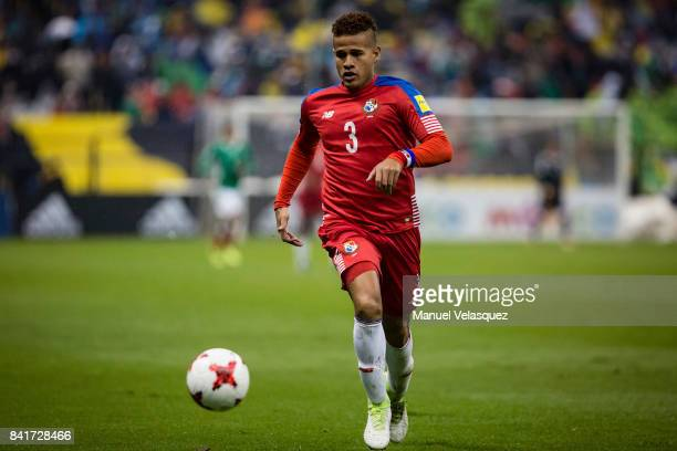 Roberto Chen of Panama runs after the ball during the match between Mexico and Panama as part of the FIFA 2018 World Cup Qualifiers at Estadio Azteca...
