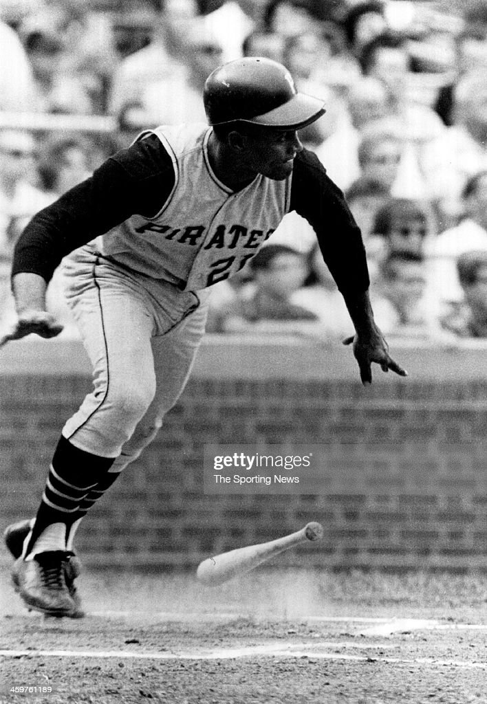 <a gi-track='captionPersonalityLinkClicked' href=/galleries/search?phrase=Roberto+Clemente&family=editorial&specificpeople=206918 ng-click='$event.stopPropagation()'>Roberto Clemente</a> #21 of the Pittsburgh Pirates circa !969 at Wrigley Field in Chicago, Illinois.