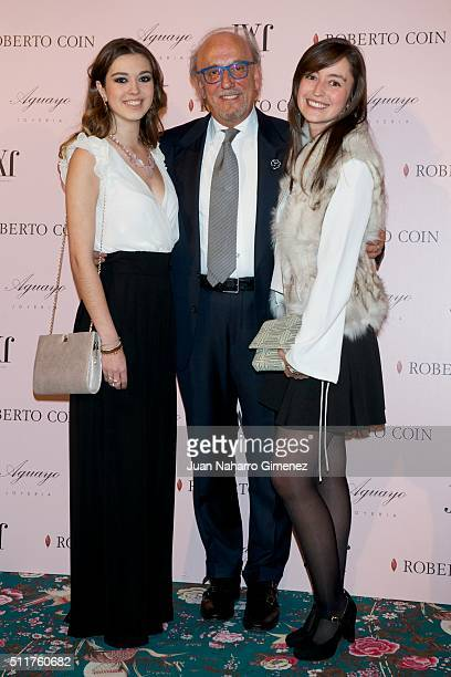 Roberto Coin attends 'Roberto Coin' and 'Aguayo' jewelry party at Palacio de Santa Coloma on February 22 2016 in Madrid Spain